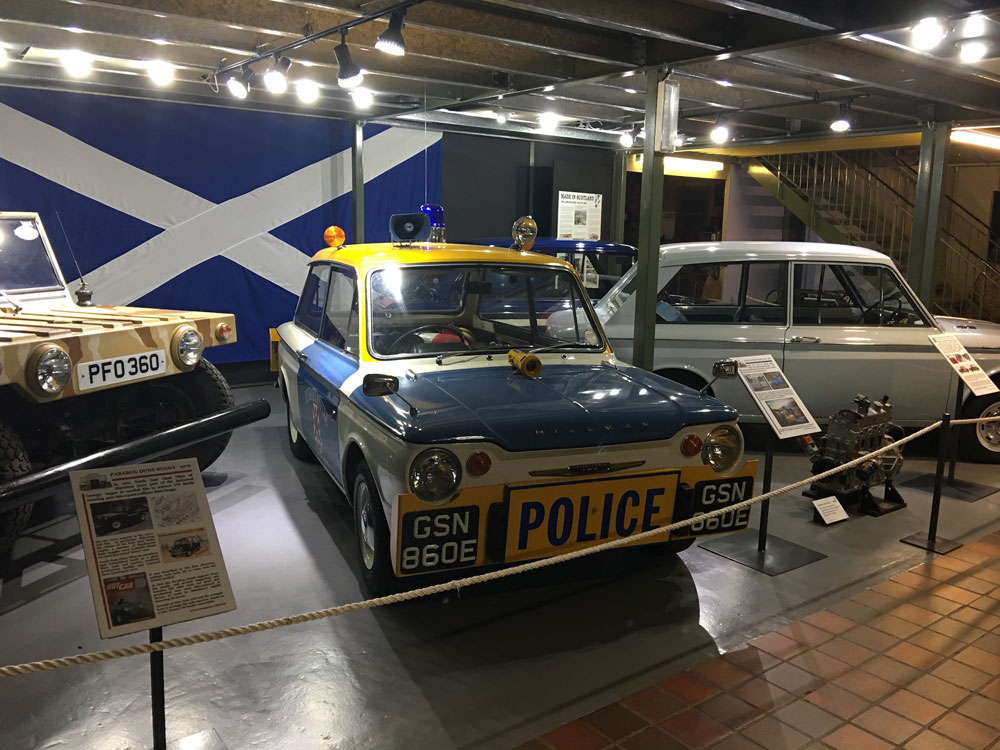 Blue white and yellow Police Imp