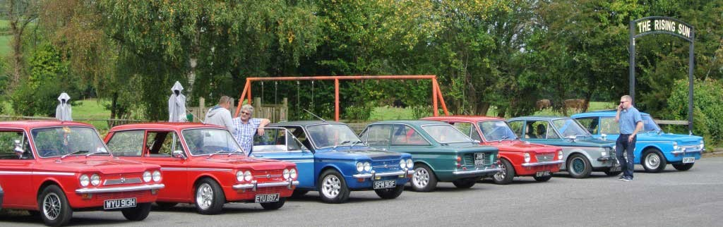 Line up of cars at Wicked Welsh 2014