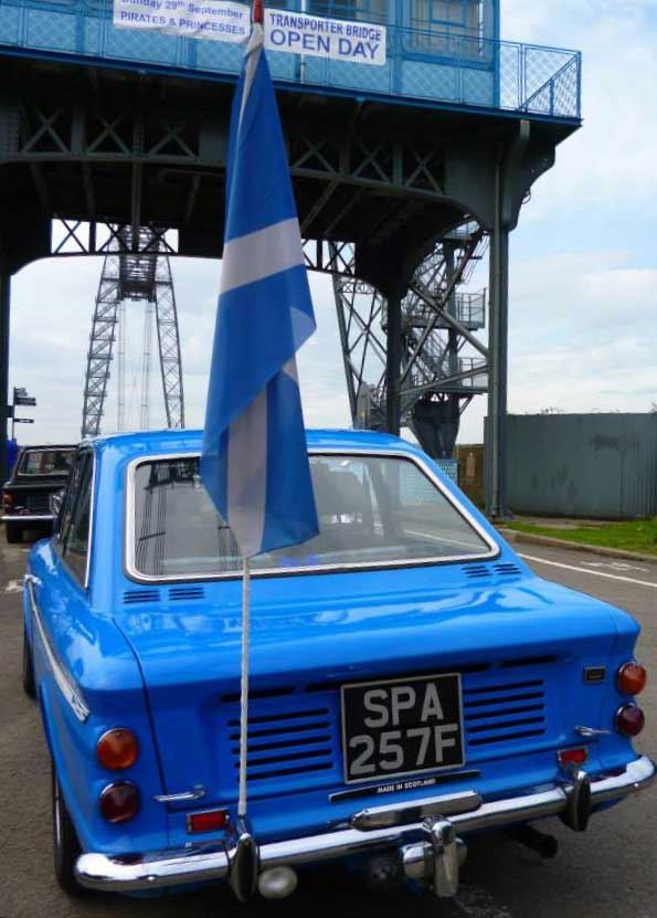 Photo of Chamois Coupe sporting Scottish Flag
