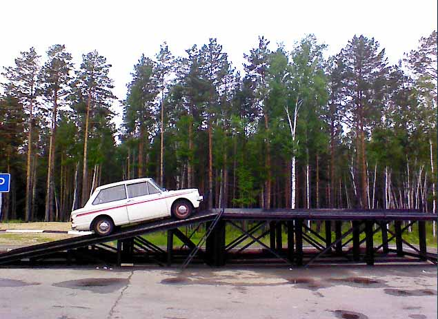 Using a roadside inspection ramp in Siberia
