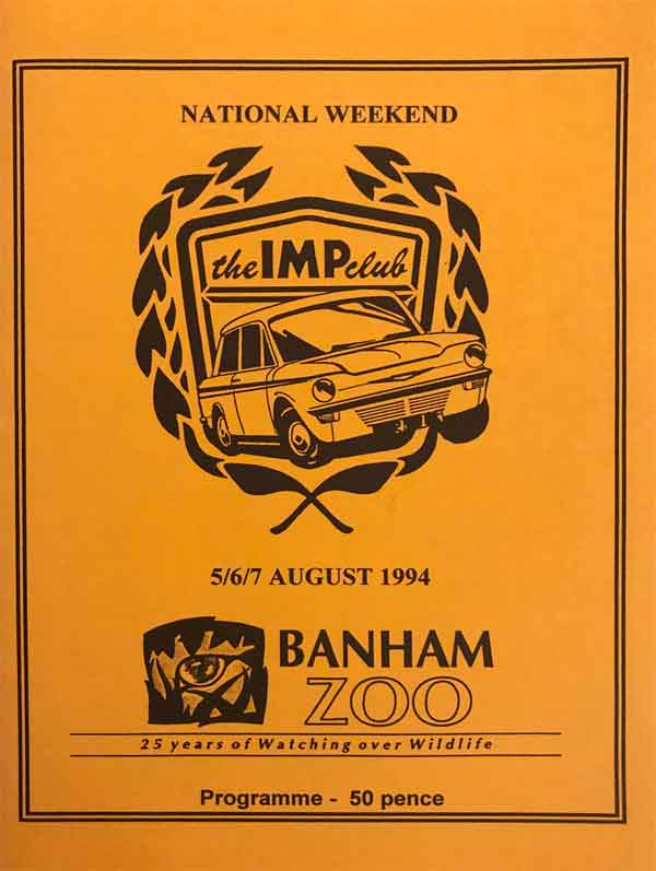 Front of 1994 event programme