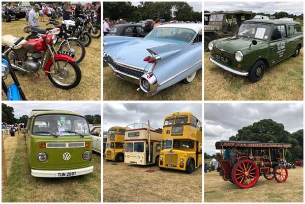 Bike, American Car, Mini, VW Camper Van, Buses and steam engine