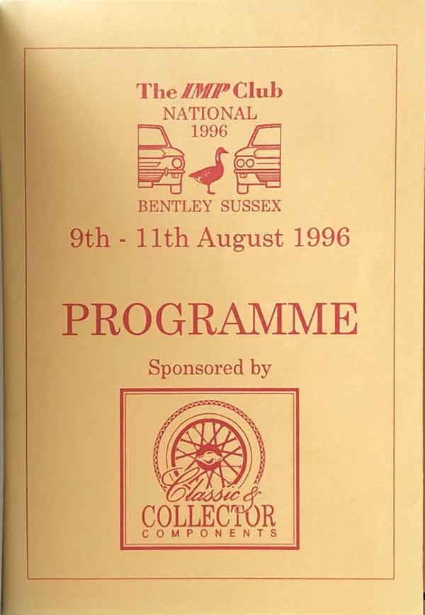 Front of Event Programme